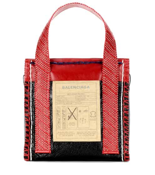 Balenciaga Shopper Scaffold Small aus Le...