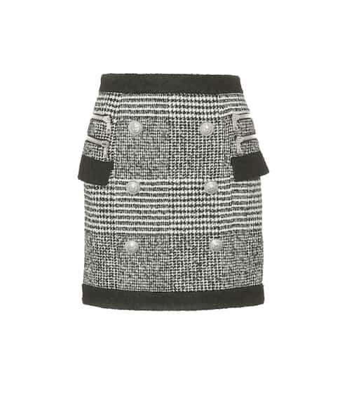 Balmain Minirock aus Tweed