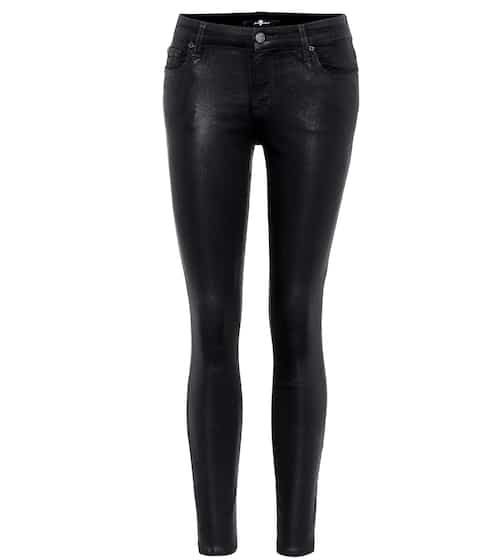 7 For All Mankind Beschichtete Jeans The Ankle Skinny