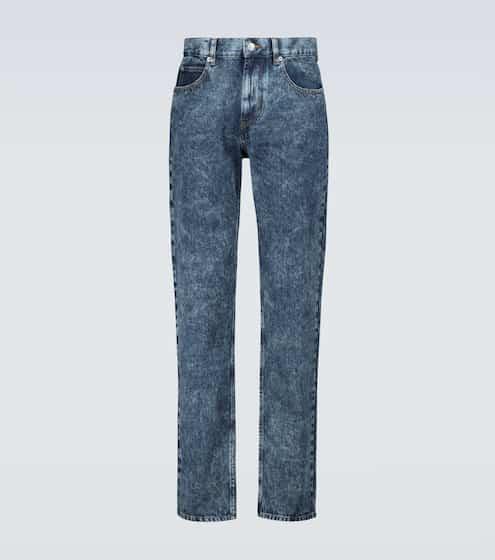 이자벨 마랑 Isabel Marant Jack acid-washed jeans