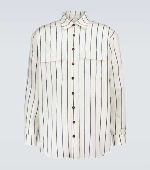 King & Tuckfield Oversized striped shirt