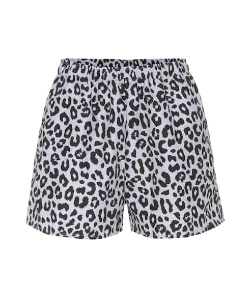 Beth Richards Micro leopard-printed shorts