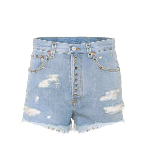 Gucci Distressed Jeansshorts