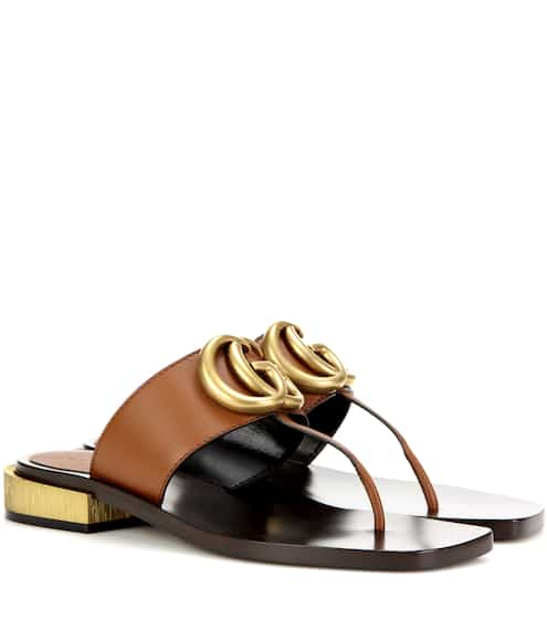 af9465fd341 Gucci Leather Sandals from mytheresa - Styhunt