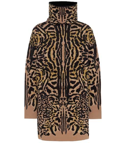 지방시 Givenchy Cheetah-jacquard wool-blend sweater
