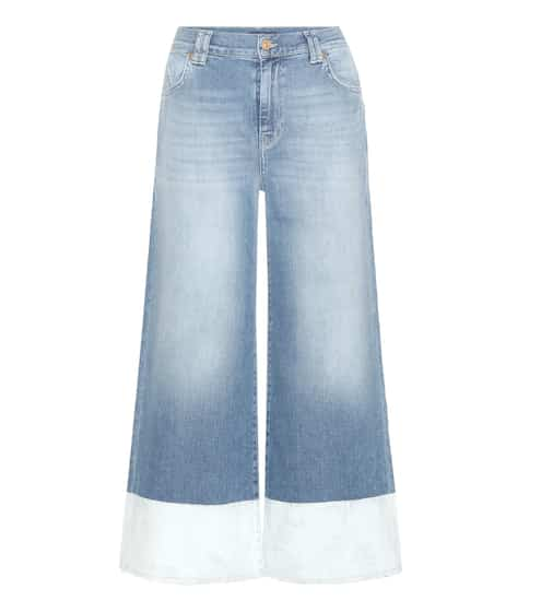 7 For All Mankind Culottes aus Denim