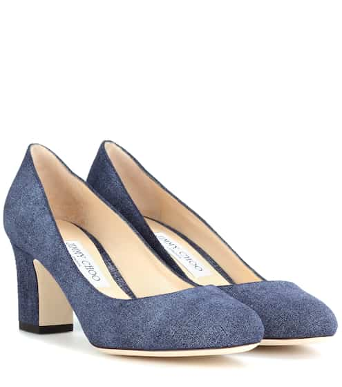 Jimmy Choo Pumps Billie 65 aus Leder in Denim-Optik