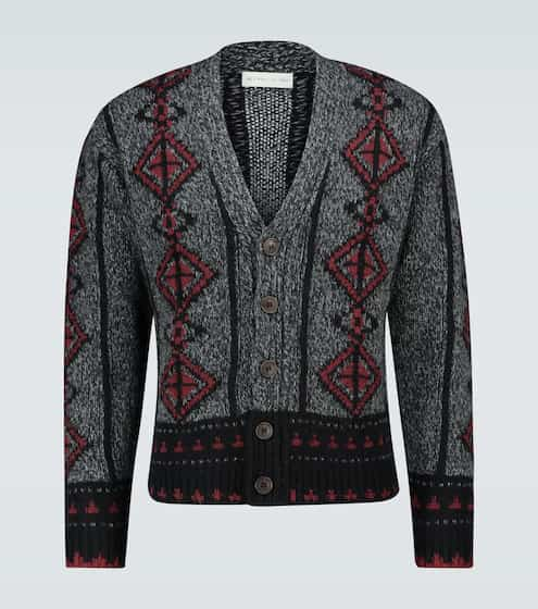 에트로 ETRO Wool intarsia knitted cardigan