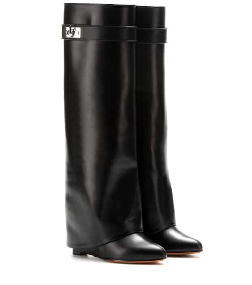 e6d19f597106 Leather wedge boots