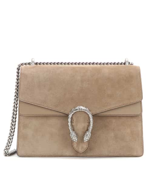 Dionysus Medium Suede And Leather Shoulder Bag Gucci