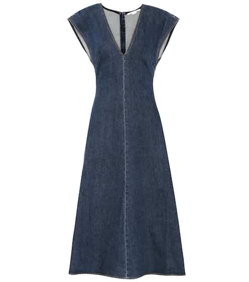 Stella McCartney Denimkleid mit V-Ausschnitt