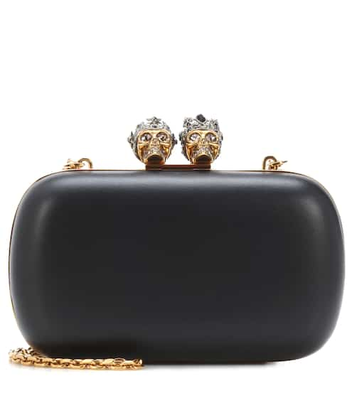 Queen and King Skull fur box clutch Alexander McQueen