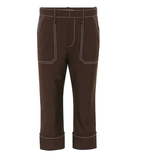 끌로에 Chloe Wool-blend cropped trousers