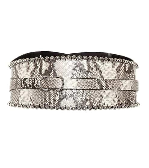 이자벨 마랑 Isabel Marant Kytoo embossed leather belt