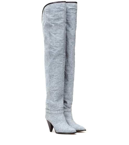 이자벨 마랑 Isabel Marant Learon denim over-the-knee boots