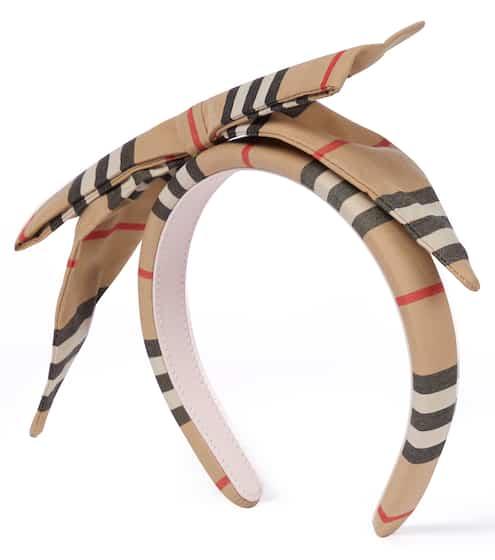 버버리 키즈 머리띠 Burberry Icon Stripe cotton headband