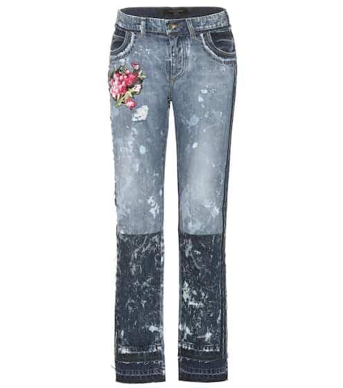 Dolce & Gabbana Bestickte Distressed Jeans