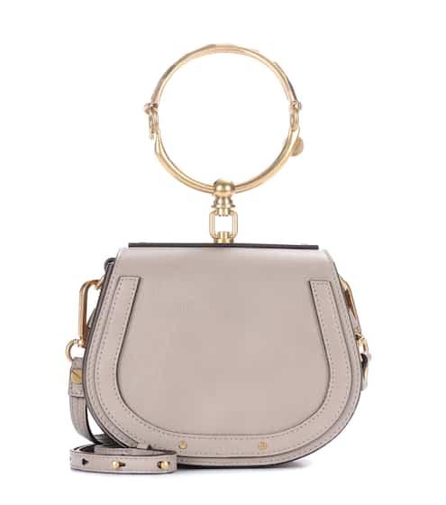 끌로에 나일벡 스몰 - 모티 그레이 Chloe Small Nile leather bracelet bag