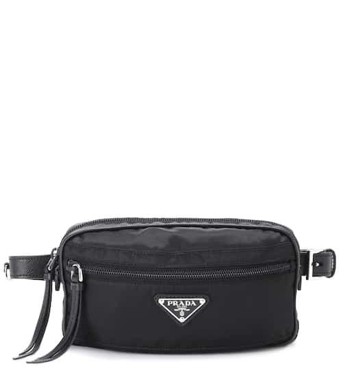프라다 Prada Leather-trimmed belt bag