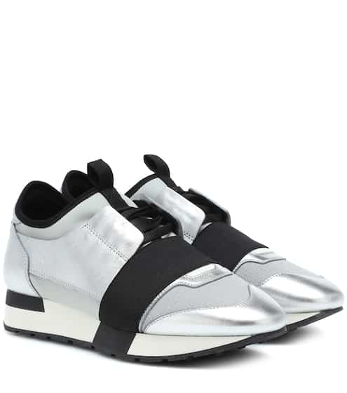 발렌시아가 우먼 레이스러너 메탈릭 Balenciaga Race Runner sneakers, Argent