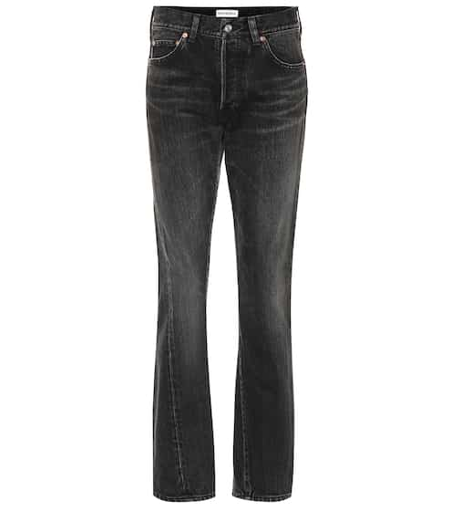 발렌시아가 Balenciaga High-rise cotton jeans
