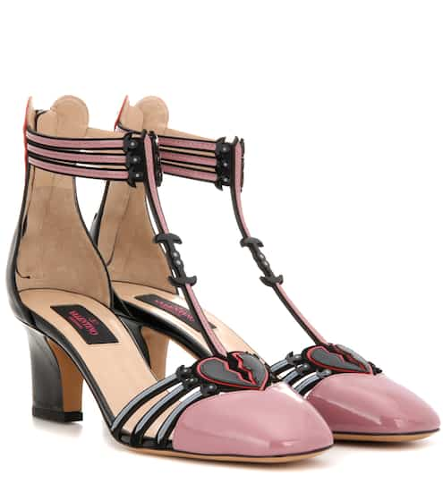 Valentino Embellished leather sandals