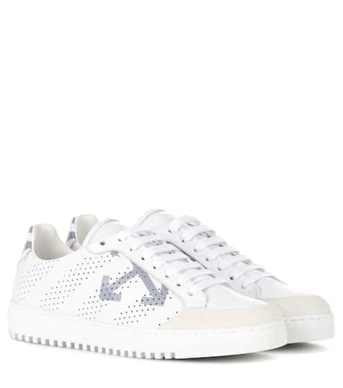 Off-White Sneakers Carry Over aus Leder