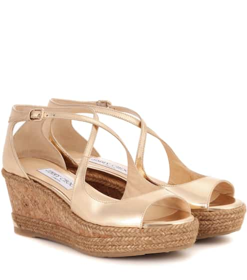 Jimmy Choo Wedge-Sandalen Dakota aus Lackleder