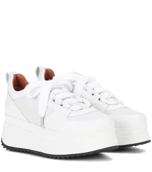 Ganni Plateau-Sneakers Naomi aus Leder