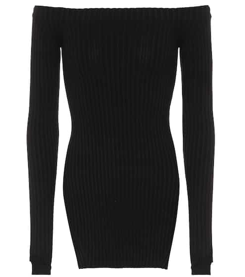 Helmut Lang Top aus Stretch-Seide