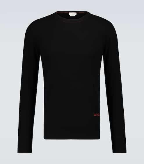 알렉산더 맥퀸 스웨터 Alexander McQueen Cashmere crewneck sweater