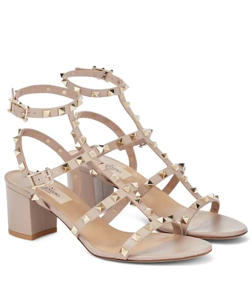 bcaabaeb97b0 Valentino Garavani Rockstud leather sandals