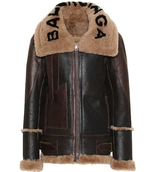 Balenciaga Jacke aus Lammleder und Shearling