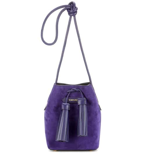 Tom Ford Small Tassel Suede Bucket Bag from mytheresa - Styhunt 7770afe52a7a