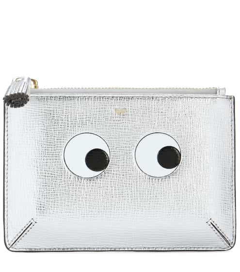 Anya Hindmarch Etui Loose Pocket Small aus Metallic-Leder