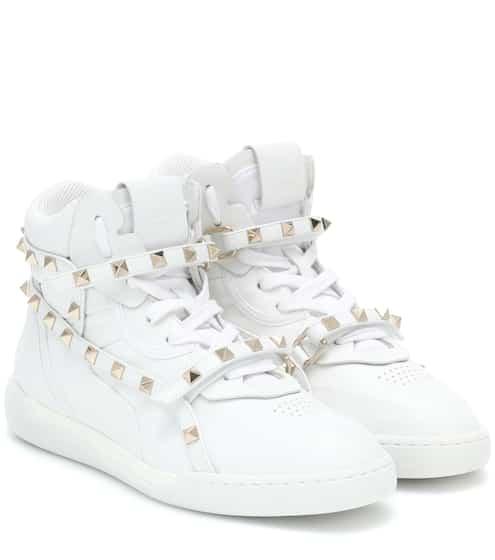 d4bad2a02d Valentino Garavani Rockstud leather sneakers | Valentino