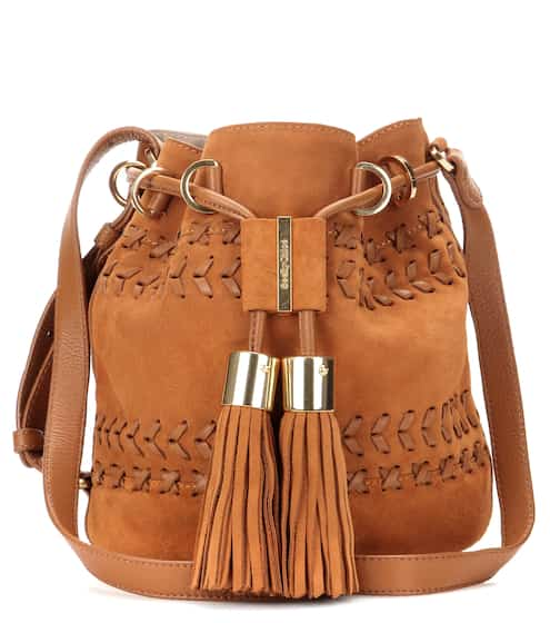 See By Chloé Bucket-Bag Vicki Small aus Velours- und Glattleder