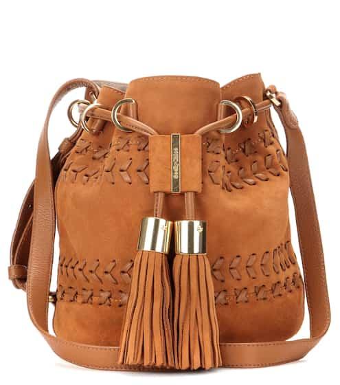See By Chloé Bucket-Bag Vicki Small aus Velours- und Glattleder