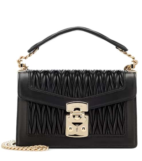 Miu Miu Matelasse Leather Shoulder Bag from mytheresa - Styhunt 7407e960ad059