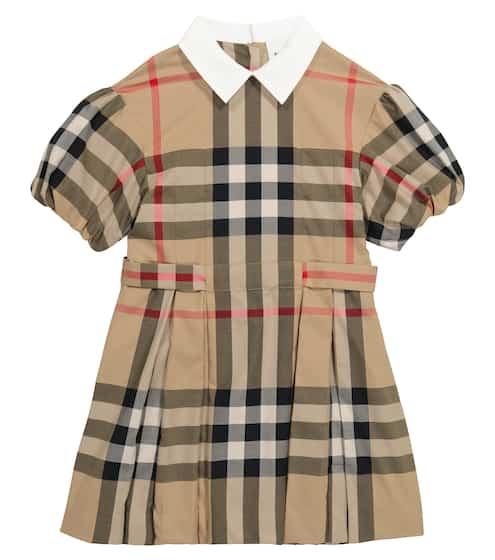 버버리 키즈 원피스 Burberry Vintage Check cotton-blend dress