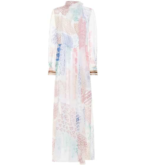Printed silk chiffon gown by Chloé, available on mytheresa.com for EUR1350 Bella Hadid Dress SIMILAR PRODUCT