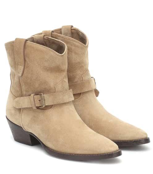 생 로랑 Saint Laurent West Classic 45 suede ankle boots