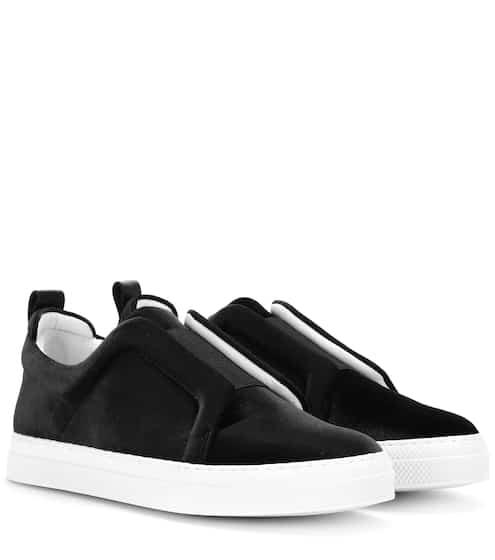 Pierre Hardy Sneakers Slider aus Samt