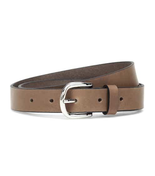 이자벨 마랑 Zap 가죽 벨트 - 브론즈 Isabel Marant Zap leather belt
