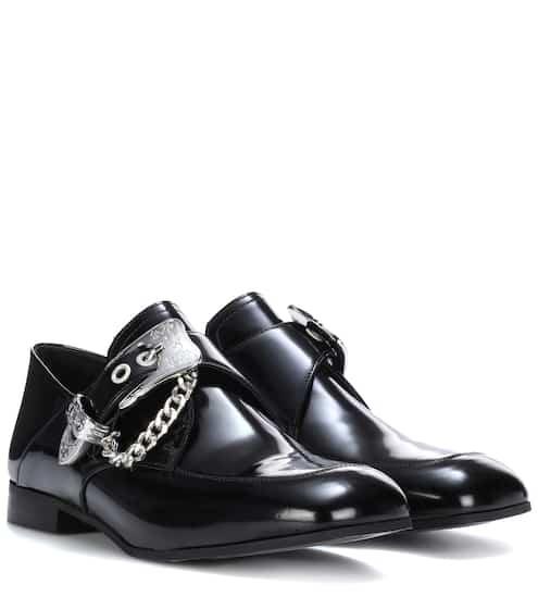 McQ Alexander McQueen Loafers aus Leder mit Schnalle