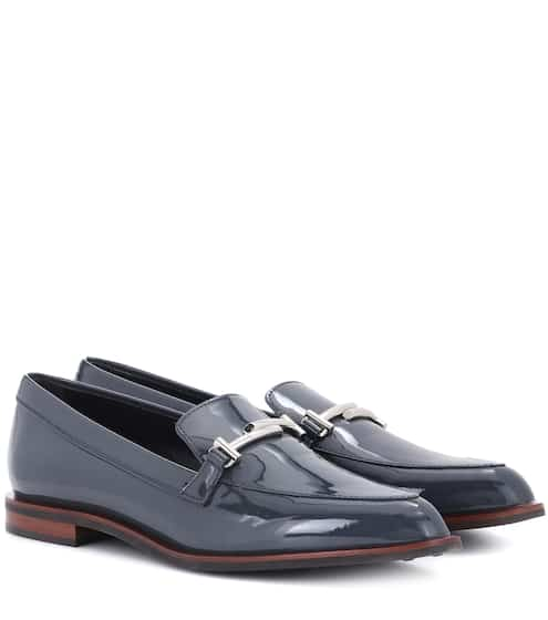 Tod's Loafers Double T aus Lackleder