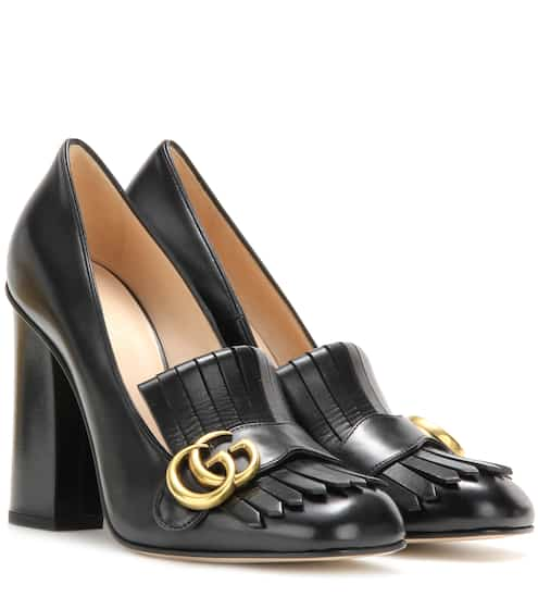 Gucci Loafer-Pumps aus Leder