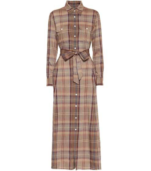 폴로 랄프로렌 원피스 Polo Ralph Lauren Checked flannel midi dress