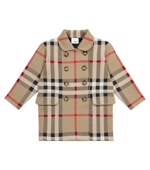 버버리 키즈 코트 Burberry Vintage Check jacquard coat