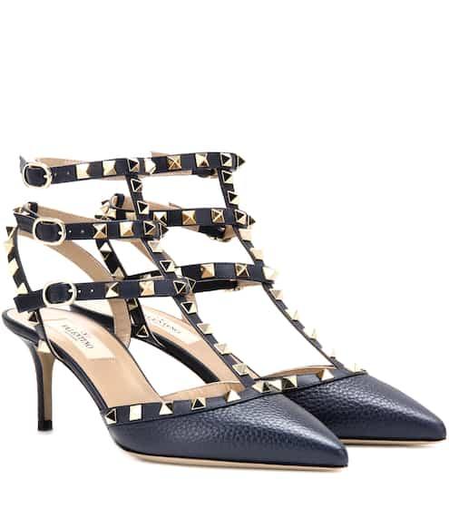 Valentino Valentino Garavani Rockstud leather kitten-heel pumps